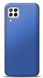 Huawei P40 Lite Lacivert Mat Silikon Kılıf