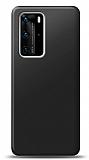 Huawei P40 Siyah Mat Silikon Kılıf