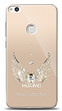 Huawei P9 Lite 2017 Angel Death Taşlı Kılıf