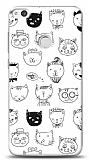 Huawei P9 Lite 2017 Cats Resimli Kılıf