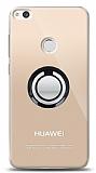 Huawei P9 Lite 2017 Siyah Tutuculu Şeffaf Kılıf