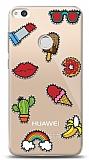 Huawei P9 Lite 2017 Stickers Resimli Kılıf