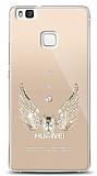Huawei P9 Lite Angel Death Taşlı Kılıf