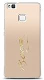Huawei P9 Lite Gold Atatürk İmza Kılıf