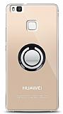 Huawei P9 Lite Siyah Tutuculu Şeffaf Kılıf