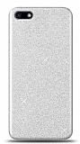 Huawei Y5 2018 Simli Silver Silikon Kılıf