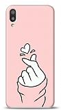 Huawei Y5 2019 Pink Finger Heart Kılıf