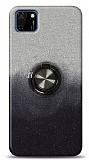 Huawei Y5p Simli Yüzüklü Siyah Silikon Kılıf