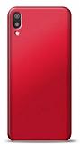 Huawei Y6 2019 Kırmızı Mat Silikon Kılıf