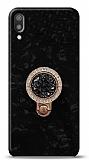Huawei Y6 2019 Mozaik Yüzüklü Siyah Silikon Kılıf