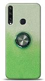 Huawei Y6p Simli Yüzüklü Yeşil Silikon Kılıf