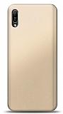 Huawei Y6s 2019 Gold Mat Silikon Kılıf