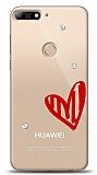 Huawei Y7 2018 3 Taş Love Kılıf