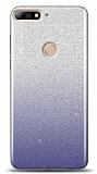 Huawei Y7 2018 Simli Siyah Silikon Kılıf