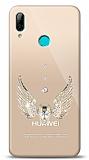 Huawei Y7 2019 Angel Death Taşlı Kılıf