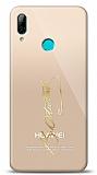 Huawei Y7 2019 Gold Atatürk İmza Kılıf