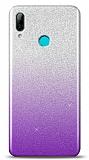 Huawei Y7 Pro 2019 Simli Mor Silikon Kılıf