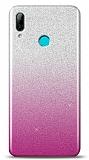 Huawei Y7 Pro 2019 Simli Pembe Silikon Kılıf