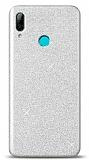 Huawei Y7 Pro 2019 Simli Silver Silikon Kılıf