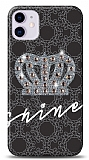 iPhone 11 Crown Shine Taşlı Resimli Kılıf