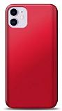 iPhone 11 Kırmızı Mat Silikon Kılıf