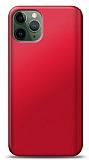 iPhone 11 Pro Kırmızı Mat Silikon Kılıf