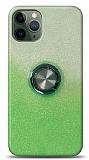 iPhone 11 Pro Max Simli Yüzüklü Yeşil Silikon Kılıf