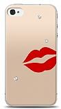 iPhone 4 / 4S 3 Taş Dudak Kılıf