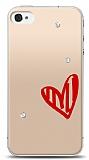 iPhone 4 / 4S 3 Taş Love Kılıf