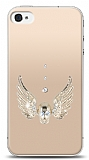 iPhone 4 / 4S Angel Death Taşlı Kılıf