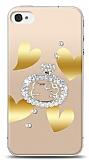 iPhone 4 / 4S Lovely Kitty Taşlı Kılıf