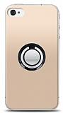 iPhone 4 / 4S Siyah Tutuculu Şeffaf Kılıf
