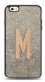 iPhone 6 / 6S Kişiye Özel Tek Harf Doğal Mermer ve Bambu Kılıf