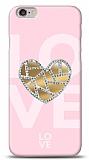 iPhone 6 / 6S Pink Mirror Taşlı Kılıf