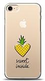 iPhone 7 / 8 Kalp Ananas Kabartmalı Parlak Kılıf