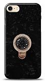 iPhone 7 / 8 Mozaik Yüzüklü Siyah Silikon Kılıf