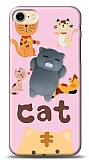iPhone 7 / 8 Üç Boyutlu Gri Kedi Resimli Kılıf