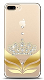 iPhone 7 Plus / 8 Plus Gold Crown Taşlı Kılıf