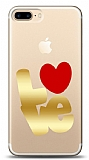 iPhone 7 Plus / 8 Plus Gold Love Kılıf