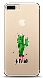 iPhone 7 Plus / 8 Plus Hello Kabartmalı Parlak Kılıf