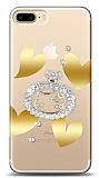 iPhone 7 Plus / 8 Plus Lovely Kitty Taşlı Kılıf
