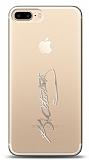iPhone 7 Plus / 8 Plus Silver Atatürk İmza Kılıf