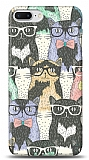 iPhone 7 Plus Kedi Desenli Kılıf