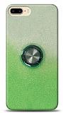 iPhone 8 Plus Simli Yüzüklü Yeşil Silikon Kılıf