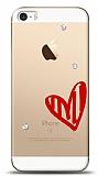 iPhone SE / 5 / 5S 3 Taş Love Kılıf