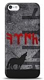 iPhone SE / 5 / 5S Göktürkçe Türk Kırmızı Yazılı Kılıf