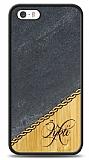 iPhone SE / 5 / 5S Kişiye Özel Tek İsim Doğal Mermer ve Bambu Kılıf