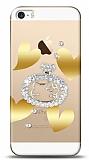 iPhone SE / 5 / 5S Lovely Kitty Taşlı Kılıf