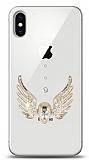 iPhone X Angel Death Taşlı Kılıf