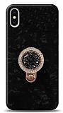iPhone X / XS Mozaik Yüzüklü Siyah Silikon Kılıf